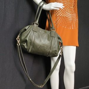 Cole Haan Avocado Green Leather Satchel Bag